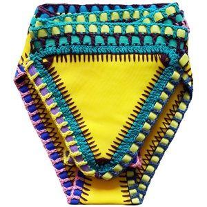 Yellow Crochet Bikini